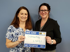 Clinical Trials Co-Directors Shelley Welch and Tanya Moran, Clinical Trials Day 2019
